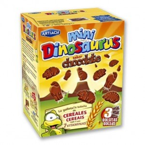 Artiach - Mini Dinosauros Cacao 120g