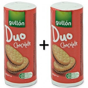 Bolacha Gullon Duo Chocolate 2x145g - 290g