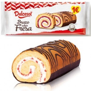 Dulcesol Tortas Brazo Fresa 250g