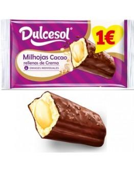 Milhojas cacao com creme Dulcesol - cx13
