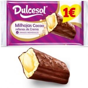 Milhojas cacao com creme Dulcesol