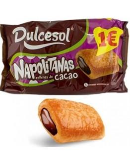 Napolitanas recheio cacao Dulcesol - cx8