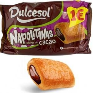 Napolitanas recheio cacao Dulcesol
