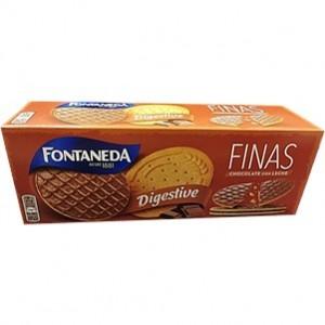 Fontaneda Digestive Finas choc. negro 170g