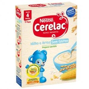 Nestle Cerelac 1ª Papa Milho e Arroz sem Glúten