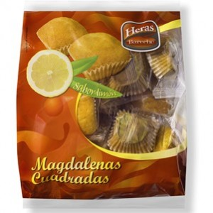 Madalenas Quadradas Limão Saco 12uni