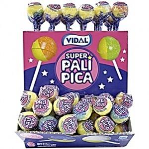 Chupas Vidal Super Palipica com Chicla 100uni > Sg