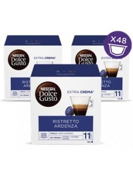 Café Capsulas Dolce Gusto Ristretto Ardenza 16cap - Pack 3cx