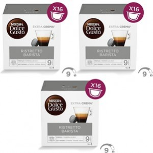 Café Capsulas Dolce Gusto Ristreto Barista 16cap - Pack 3cx