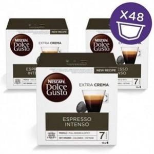 Café Capsulas Dolce Gusto Espresso Intenso pack 16cap - Pack 3cx