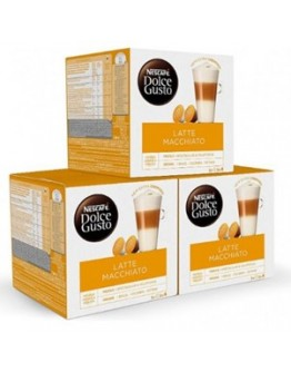 Café Capsulas Dolce Gusto Latte Machiato 16cap - Pack 3cx
