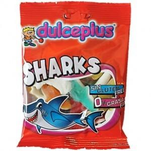 Saquetas Dulceplus Tubarões Brilho 100g > Sg