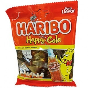 Saquetas Haribo Happy Cola 90g