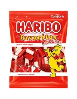 Saquetas Haribo Favoritos Red-White 90g