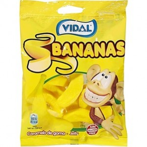Saquetas Vidal Bananas 100gr