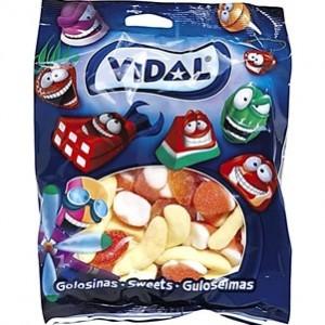 Saquetas Vidal Gomas Frutas Sortidas com Açúcar 100gr