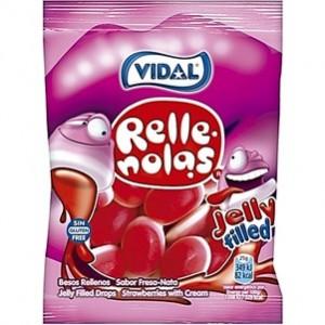 Saquetas Vidal Besos Rellenos 100gr