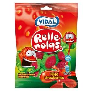 Saquetas Vidal Morangos Silvestres Recheados 100g