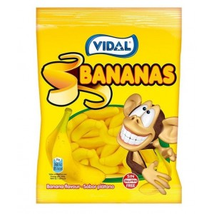 Saquetas Vidal Bananas 100g