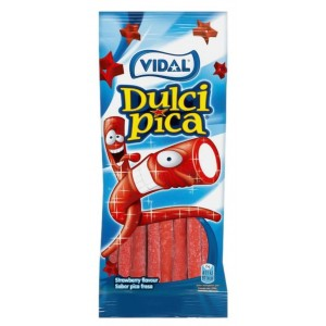 Saquetas Vidal Dulcipica Morango 100g
