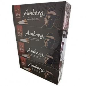 Tubos para Cigarro com Filtro Amborg Pack 4 caixas de 250uni