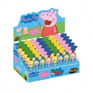 Sombrinhas de Chocolate Peppa Pig 40Uni