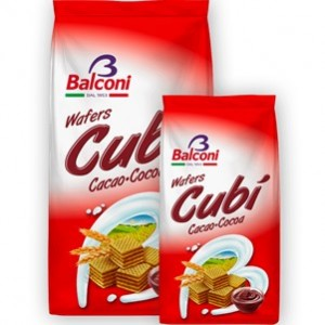 Waffer Cubi Chocolate 250gr